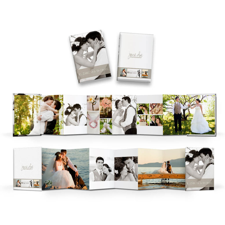Classic II | Wallet Accordion Mini Book - 3 Dollar Photoshop Templates for Photographers