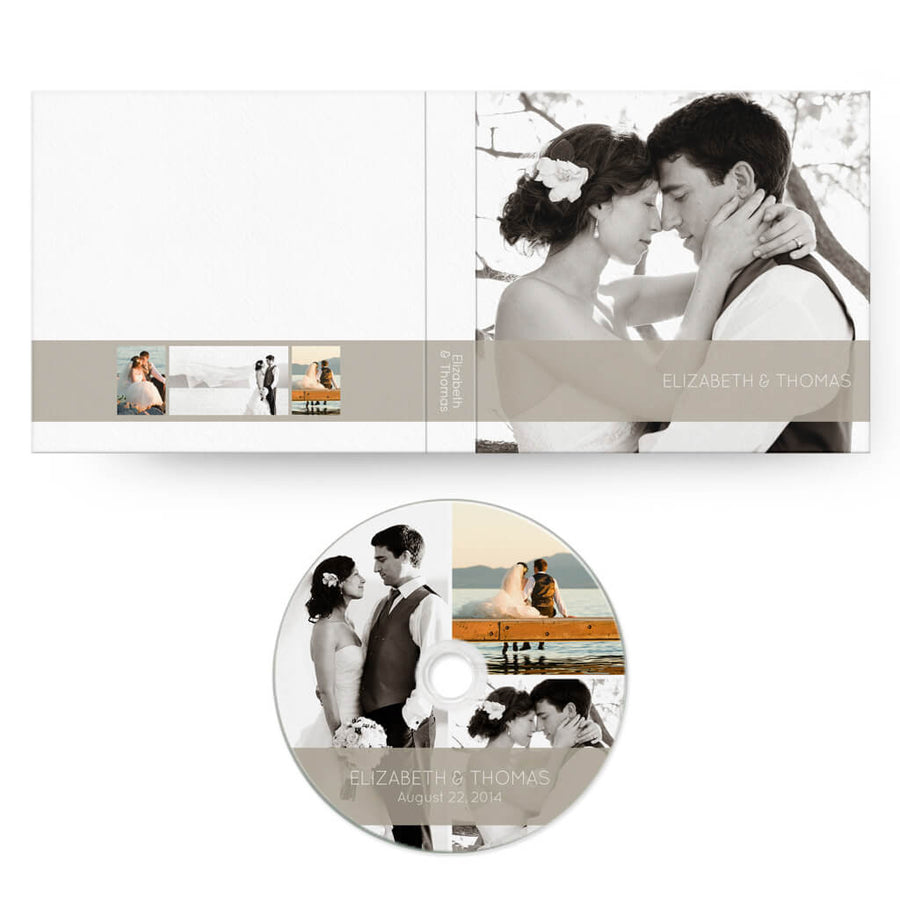 Classic II | CD Case + Optional CD Label - 3 Dollar Photoshop Templates for Photographers