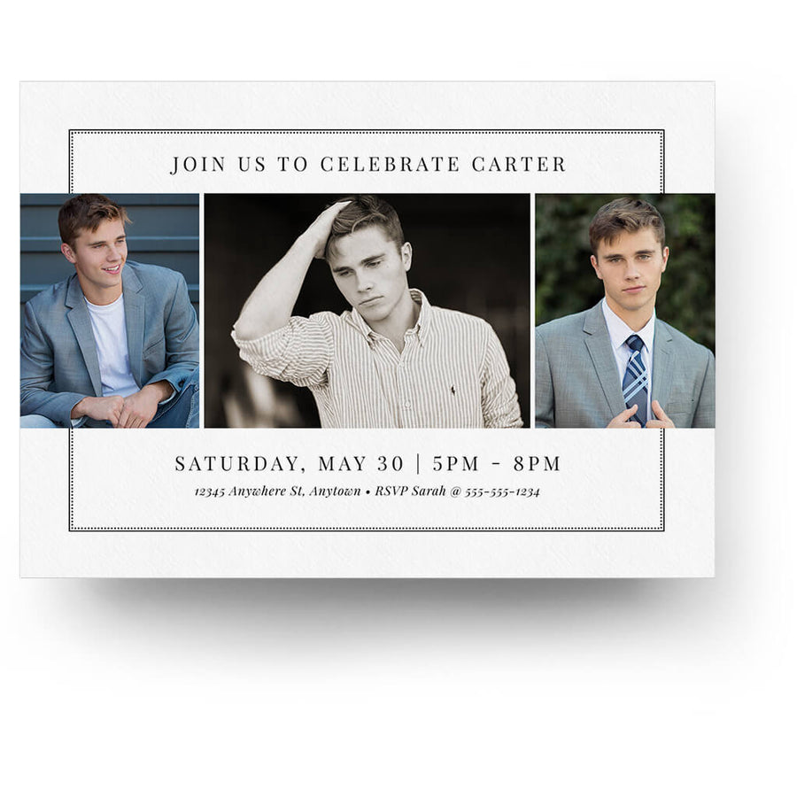 Classic Tab | Senior Graduation Card - 3 Dollar Photoshop Templates for Photographers