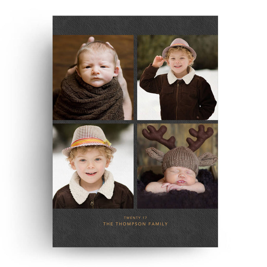 Classy Copper | Christmas Card - 3 Dollar Photoshop Templates for Photographers