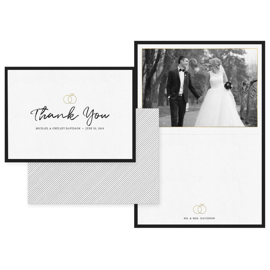 Classy Handwritten | 5x7 Folding Thank You Card - 3 Dollar Photoshop Templates for Photographers