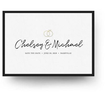 Classy Handwritten | Save-the-Date Card - 3 Dollar Photoshop Templates for Photographers