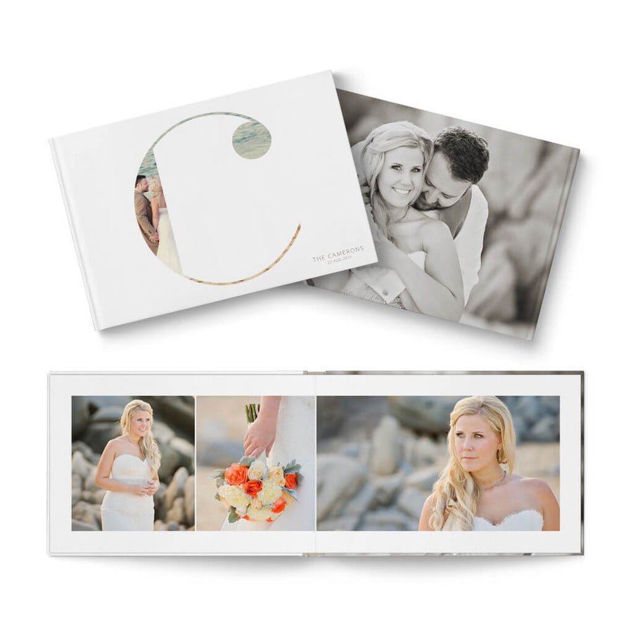 12x8 Clean Wedding - 3 Dollar Photoshop Templates for Photographers