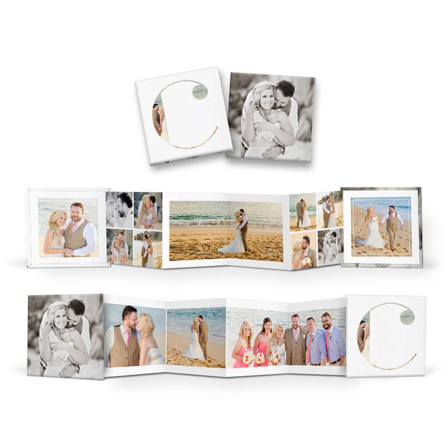 Clean Wedding | Square Accordion Mini Book - 3 Dollar Photoshop Templates for Photographers