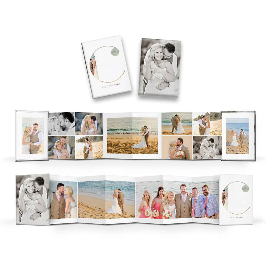 Clean Wedding | Wallet Accordion Mini Book - 3 Dollar Photoshop Templates for Photographers