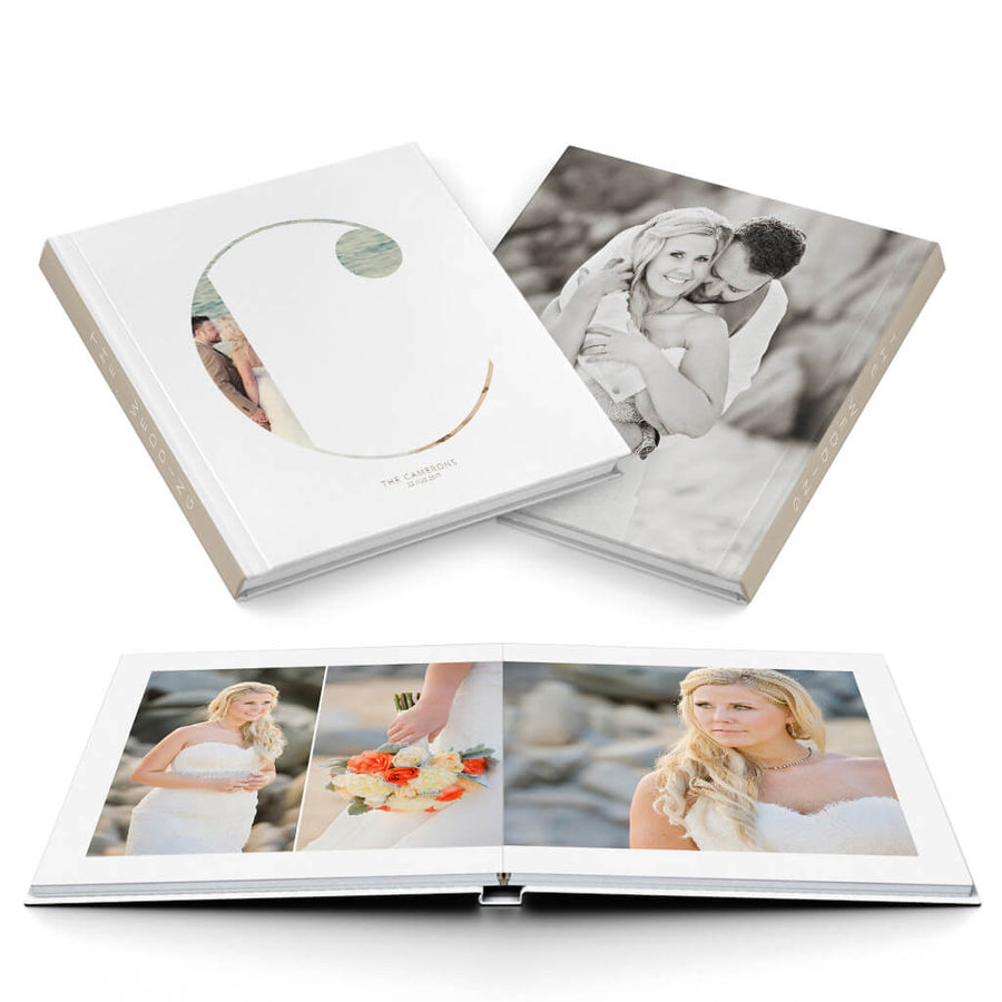 Clean Wedding Album - 3 Dollar Photoshop Templates for Photographers