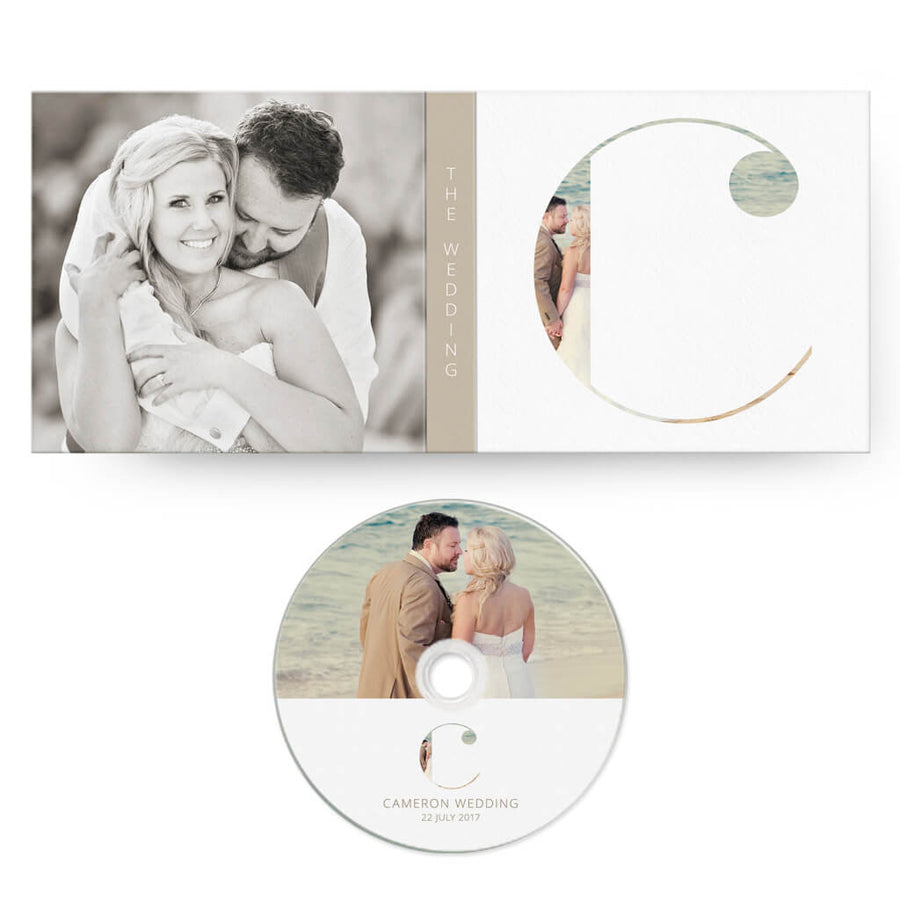 Clean Wedding | CD Case + Optional CD Label - 3 Dollar Photoshop Templates for Photographers
