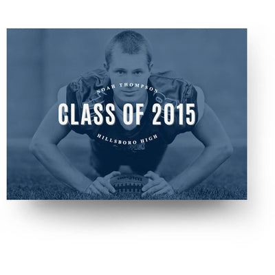 Cobalt | Senior Graduation Card - 3 Dollar Photoshop Templates for Photographers