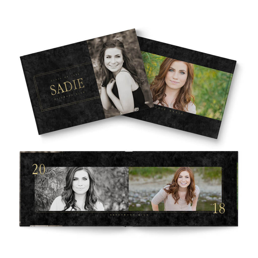 12x8 Coed Senior - 3 Dollar Photoshop Templates for Photographers