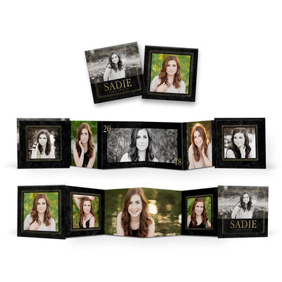 Coed | Mini Accordion Book - 3 Dollar Photoshop Templates for Photographers