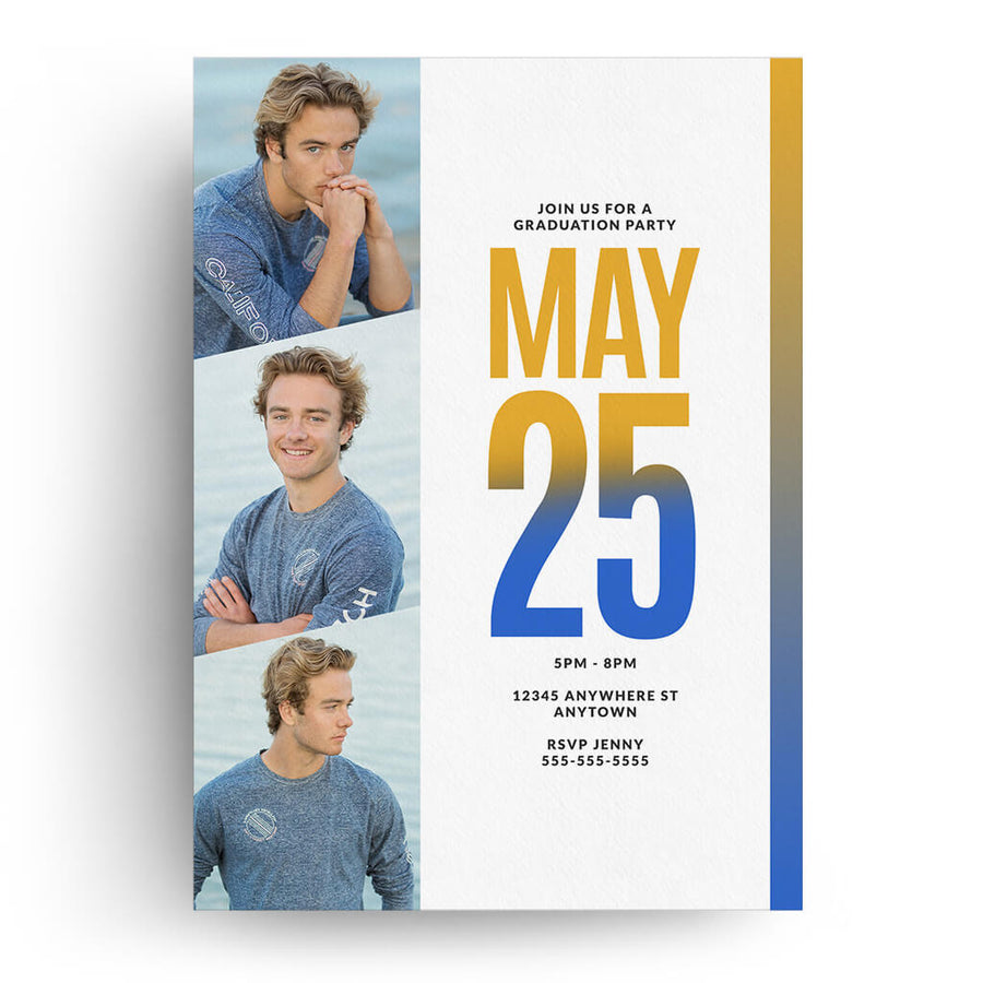 Color Fade | Senior Graduation Card - 3 Dollar Photoshop Templates for Photographers