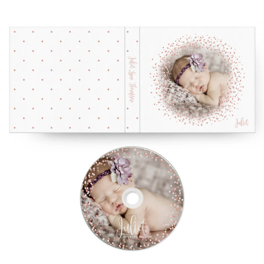 Confetti | CD Case + Optional CD Label - 3 Dollar Photoshop Templates for Photographers