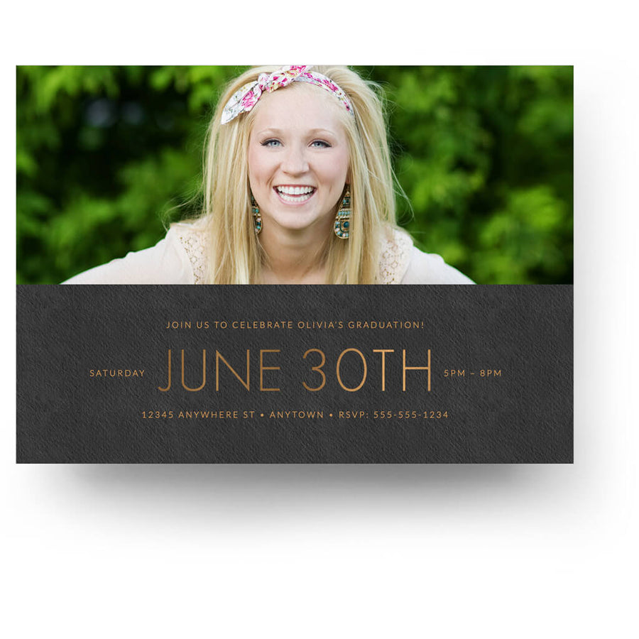 Copper Collage | Senior Graduation Card - 3 Dollar Photoshop Templates for Photographers