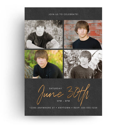 Copper Grad | Senior Graduation Card - 3 Dollar Photoshop Templates for Photographers