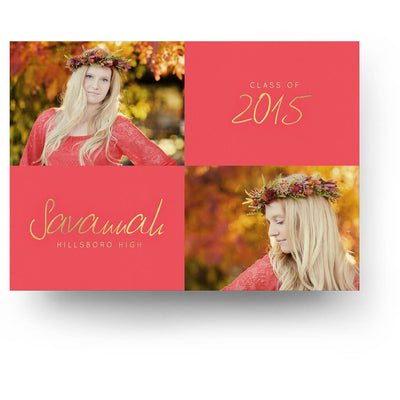 Coral | Senior Graduation Card - 3 Dollar Photoshop Templates for Photographers