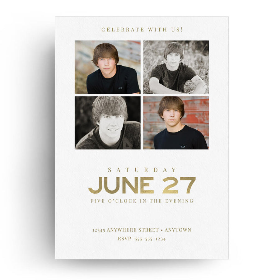 Corners | Senior Graduation Card - 3 Dollar Photoshop Templates for Photographers