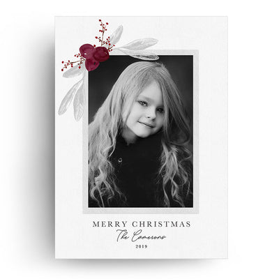 Cranberry | Christmas Card - 3 Dollar Photoshop Templates for Photographers