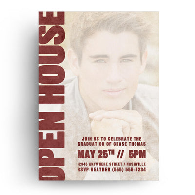 Crimson | Senior Graduation Card - 3 Dollar Photoshop Templates for Photographers