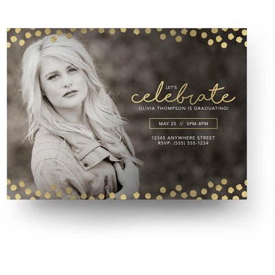 Cute Dots | Senior Graduation Card - 3 Dollar Photoshop Templates for Photographers