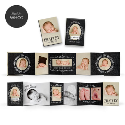 Cutie Pie | Mini Accordion Book - 3 Dollar Photoshop Templates for Photographers