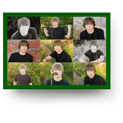Dalton | Senior Graduation Card - 3 Dollar Photoshop Templates for Photographers