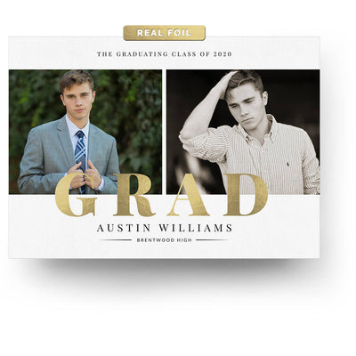 Dashing | Senior Graduation Card - 3 Dollar Photoshop Templates for Photographers