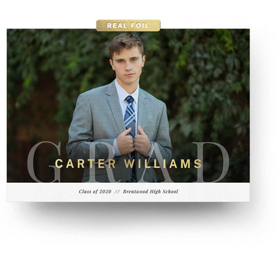 Debonair | Senior Graduation Card - 3 Dollar Photoshop Templates for Photographers