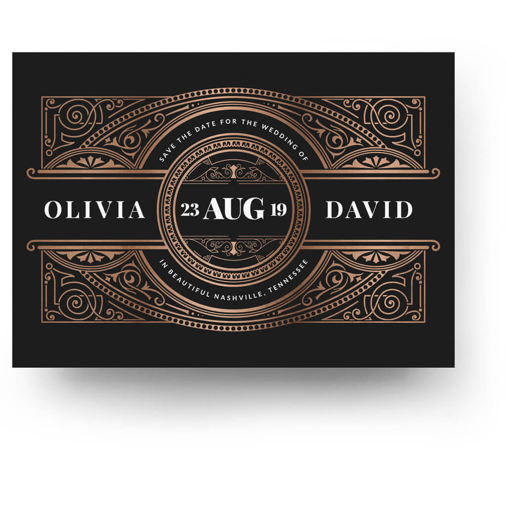 Deco | Save The Date Card   3 Dollar Photoshop Templates For Photographers