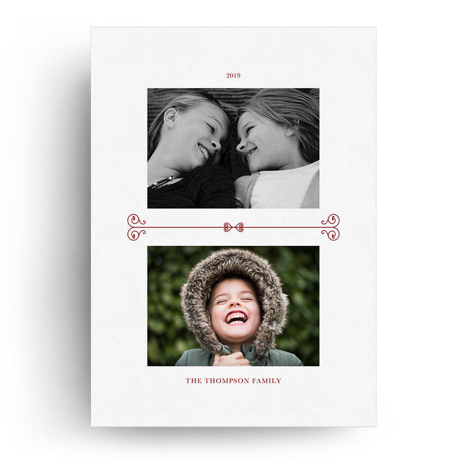 Decorative Frame | Christmas Card - 3 Dollar Photoshop Templates for Photographers