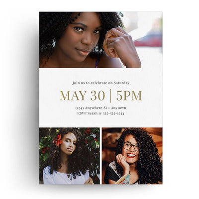 Delicate | Senior Graduation Card - 3 Dollar Photoshop Templates for Photographers
