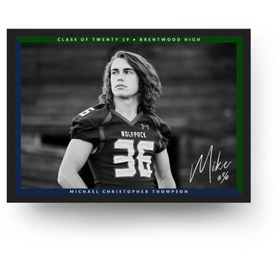 Double Frame | Senior Graduation Card - 3 Dollar Photoshop Templates for Photographers