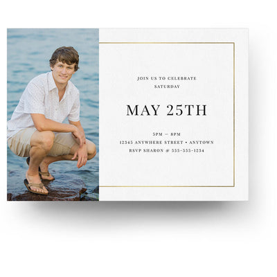 Double Up | Senior Graduation Card - 3 Dollar Photoshop Templates for Photographers