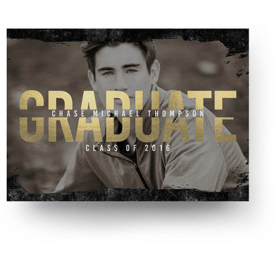 Ebony | Senior Graduation Card - 3 Dollar Photoshop Templates for Photographers