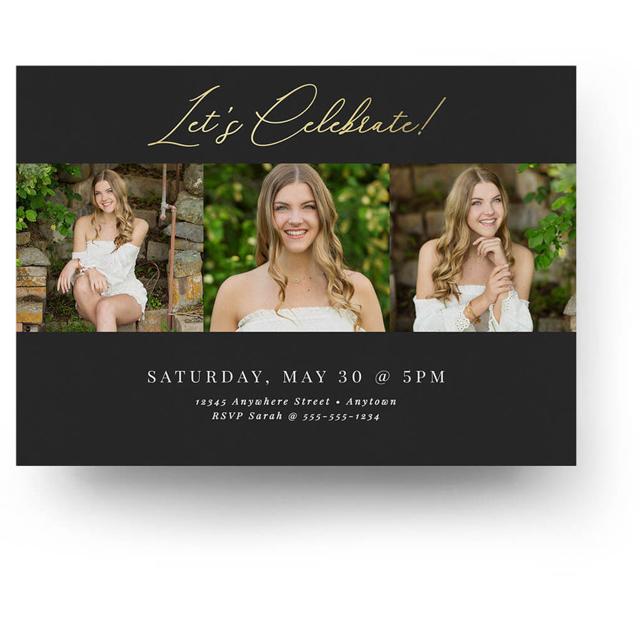 Edgy | Senior Graduation Card - 3 Dollar Photoshop Templates for Photographers