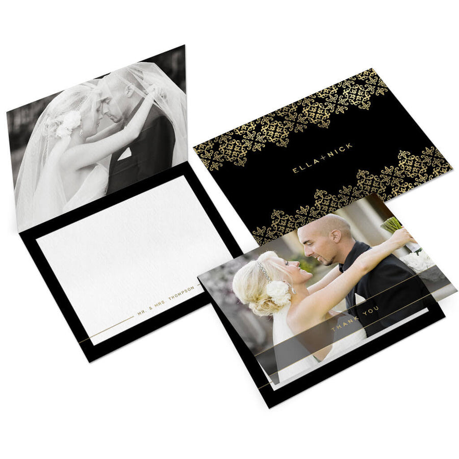 Elegant | 5x7 Folding Thank You Card - 3 Dollar Photoshop Templates for Photographers