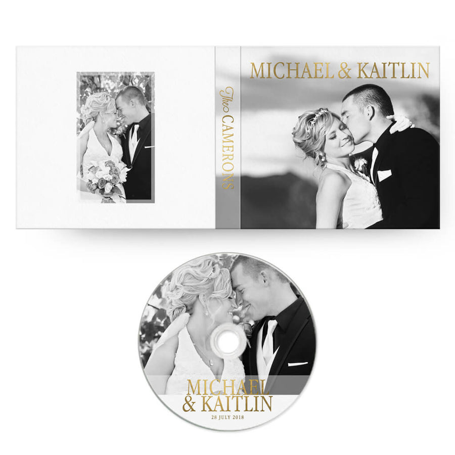 Elegant | CD Case + Optional CD Label - 3 Dollar Photoshop Templates for Photographers