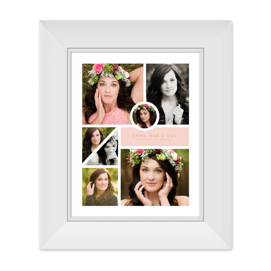 Emma | 11x14 Collage Template - 3 Dollar Photoshop Templates for Photographers
