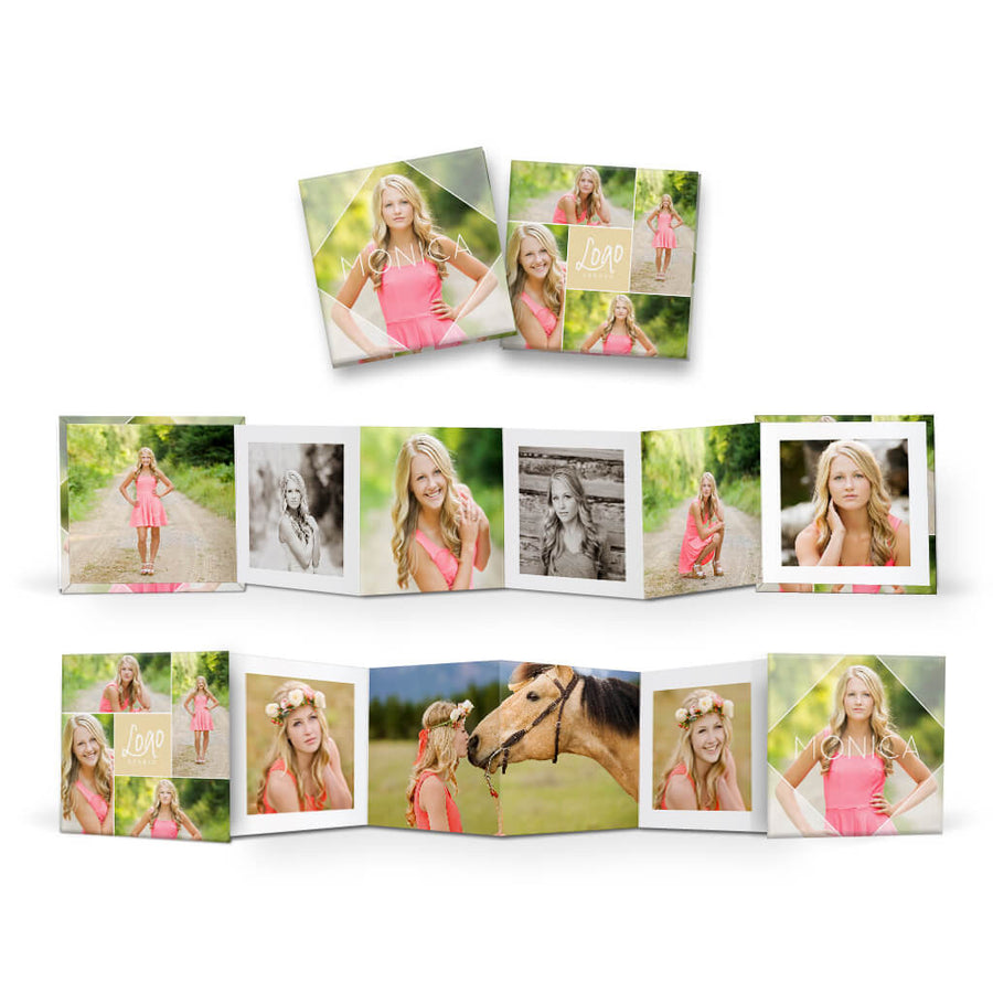 Essentials #1 | Square Accordion Mini Book - 3 Dollar Photoshop Templates for Photographers