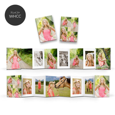Essentials #1 | Mini Accordion Book - 3 Dollar Photoshop Templates for Photographers