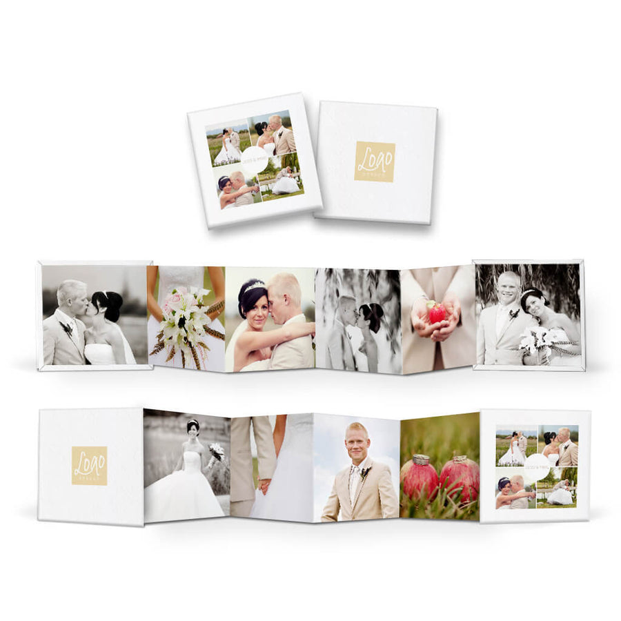 Essentials #3 | Square Accordion Mini Book - 3 Dollar Photoshop Templates for Photographers