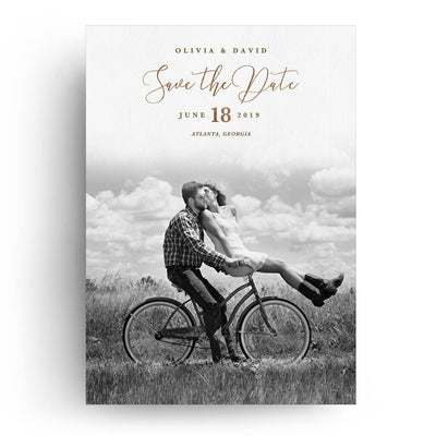 Faded | Save-the-Date Card - 3 Dollar Photoshop Templates for Photographers