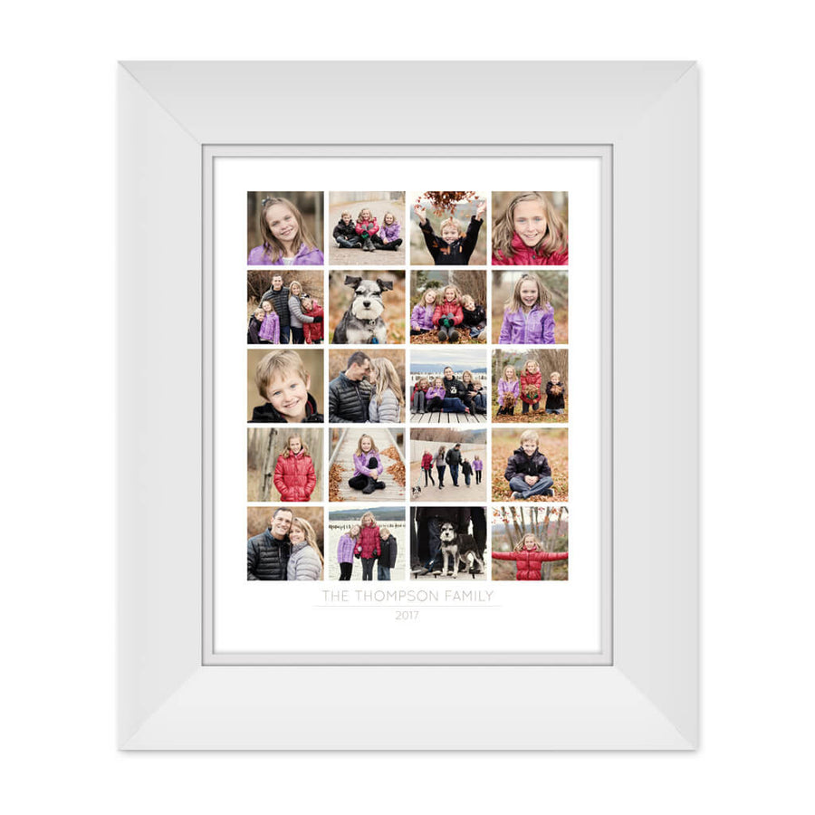 Family | 11x14 Collage Template - 3 Dollar Photoshop Templates for Photographers