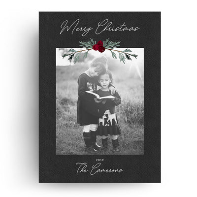 Festive Sprig | Christmas Card - 3 Dollar Photoshop Templates for Photographers