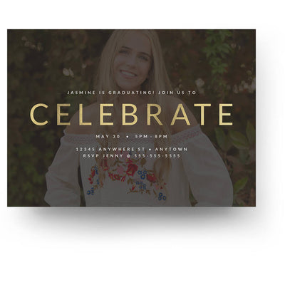 Foil Frame | Senior Graduation Card - 3 Dollar Photoshop Templates for Photographers