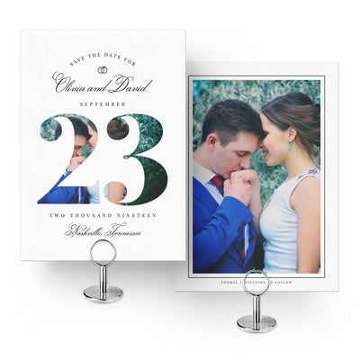 Formal | Save-the-Date Card - 3 Dollar Photoshop Templates for Photographers
