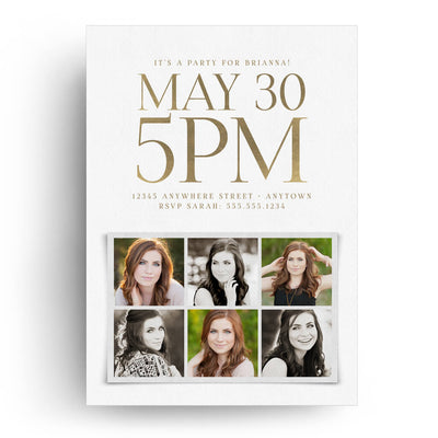 Formal | Senior Graduation Card - 3 Dollar Photoshop Templates for Photographers