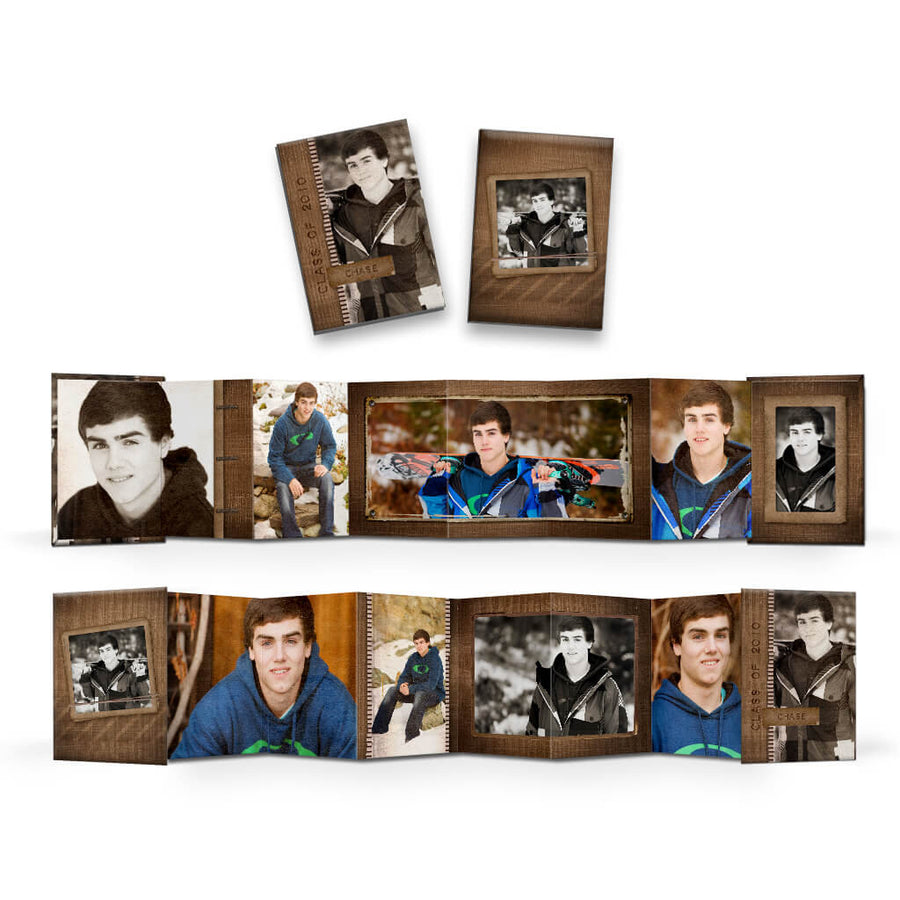 For the Guys | Wallet Accordion Mini Book - 3 Dollar Photoshop Templates for Photographers