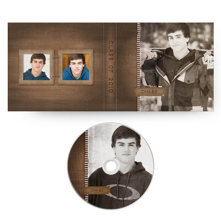 For the Guys | CD Case + Optional CD Label - 3 Dollar Photoshop Templates for Photographers