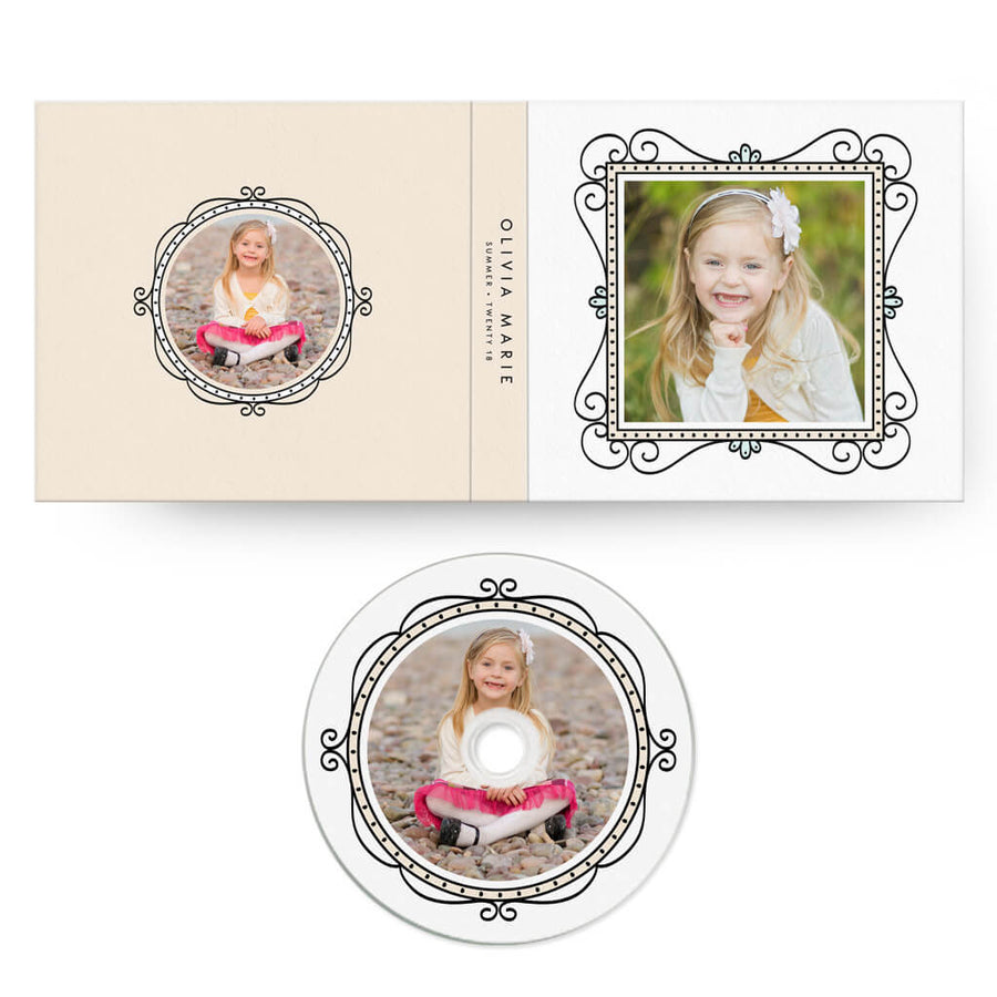 Fun Frames | CD Case + Optional CD Label - 3 Dollar Photoshop Templates for Photographers