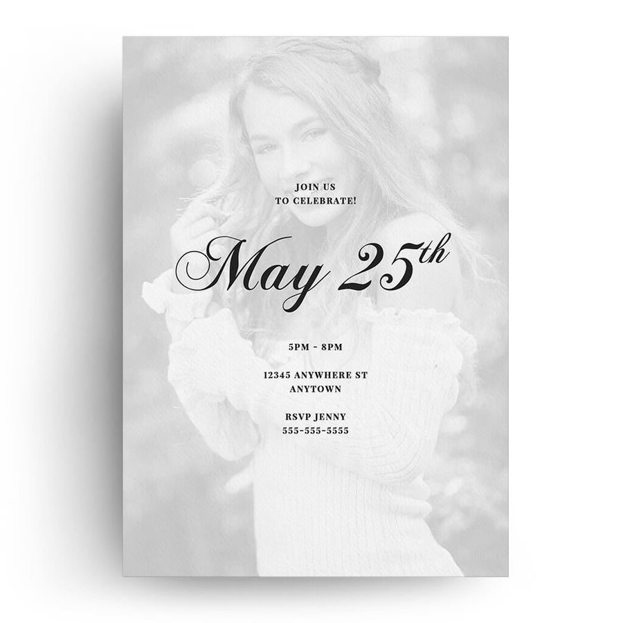 Gallery | Senior Graduation Card - 3 Dollar Photoshop Templates for Photographers